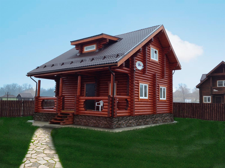 Деревянные дома схемы фото