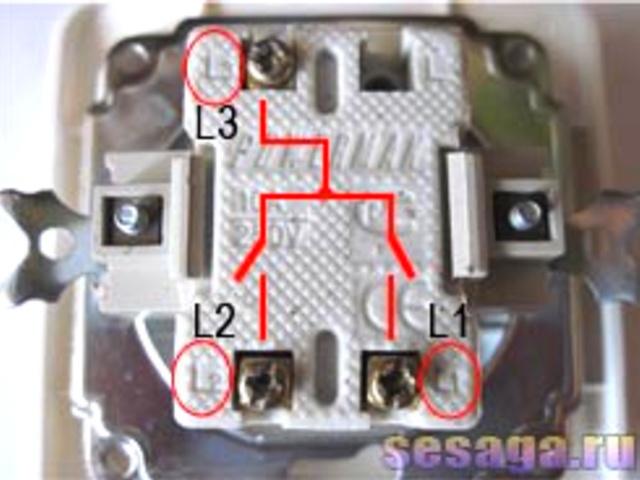 фото соединения выключателя