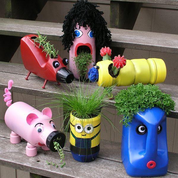 Игрушки из бутылок пластиковых для сада своими руками