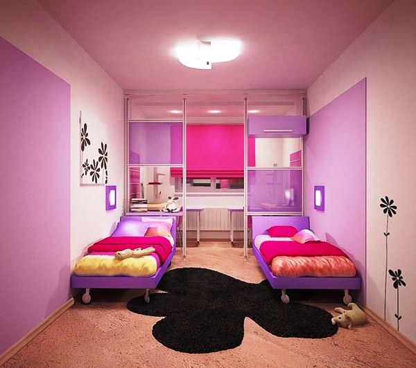 Как сделать ремонт в детской комнате для двух девочек