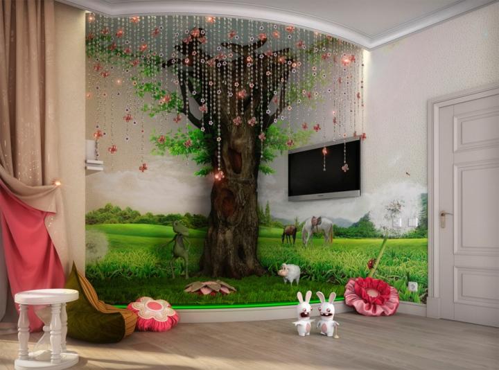 Интерьеры детских комнат фото для девочек